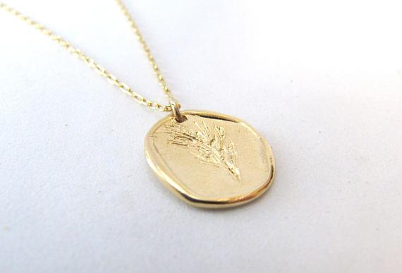 Kette Münze Weizen Silber Oder Gold Filled