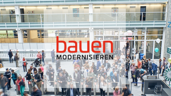 Bauen & Modernisieren  6. - 9. September 2018, Messe Zürich