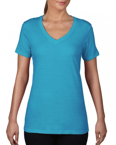 Ladies Featherweight V-Neck Tee