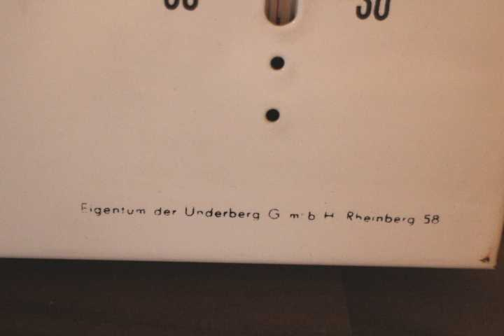 Underberg Thermometer aus Emaille
