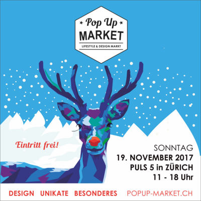 Pop Up Market Zürich // Sonntag 19. November 2018