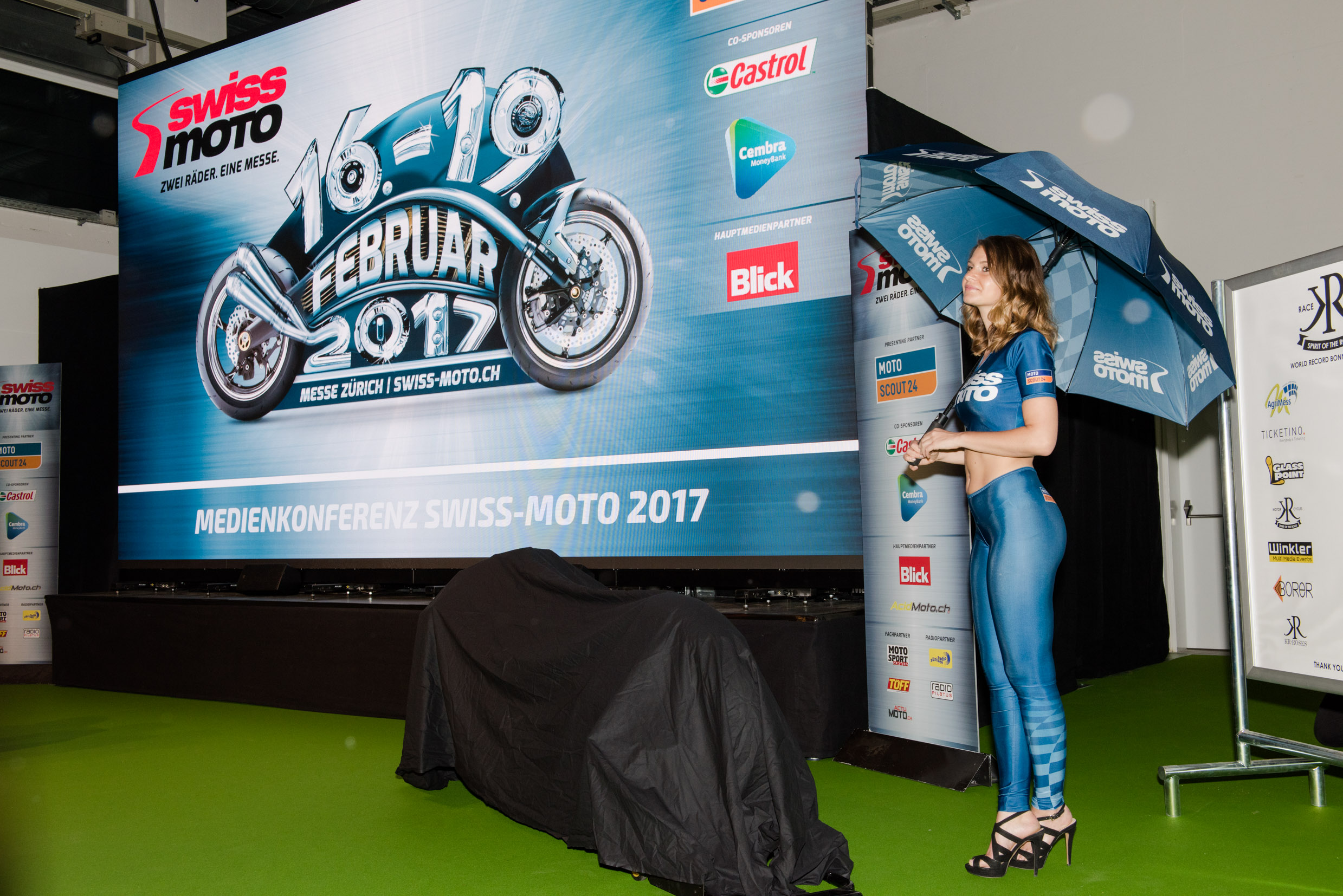 15.02.2017: World premiere at the Swiss-Moto 2017