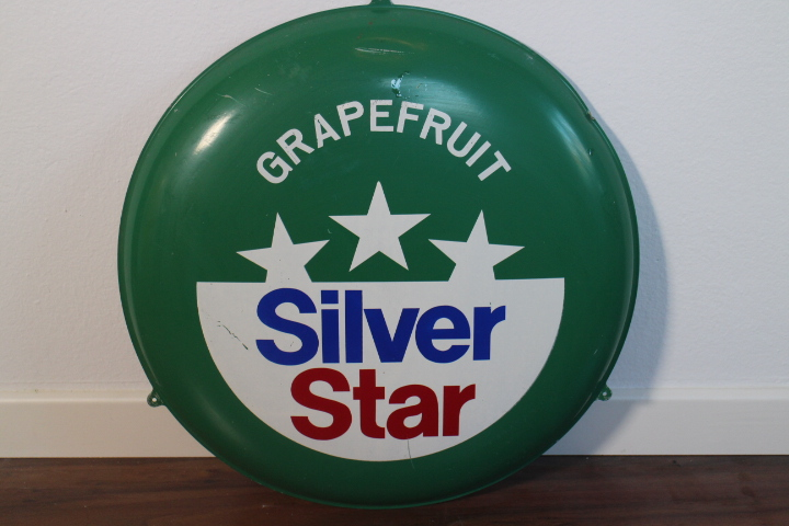Grapefruit Silver Star Blechschild