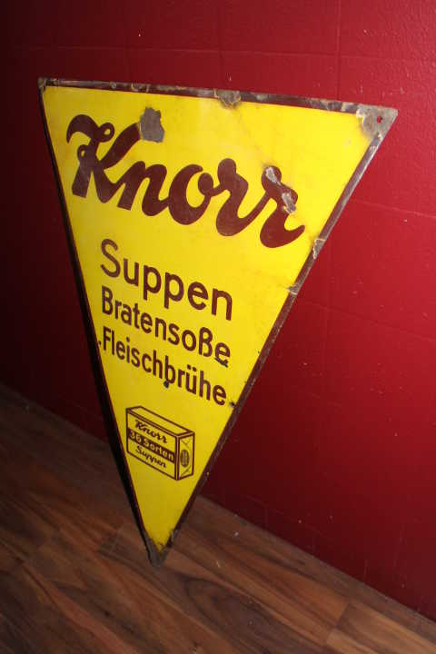 Knorr Emailschild gross