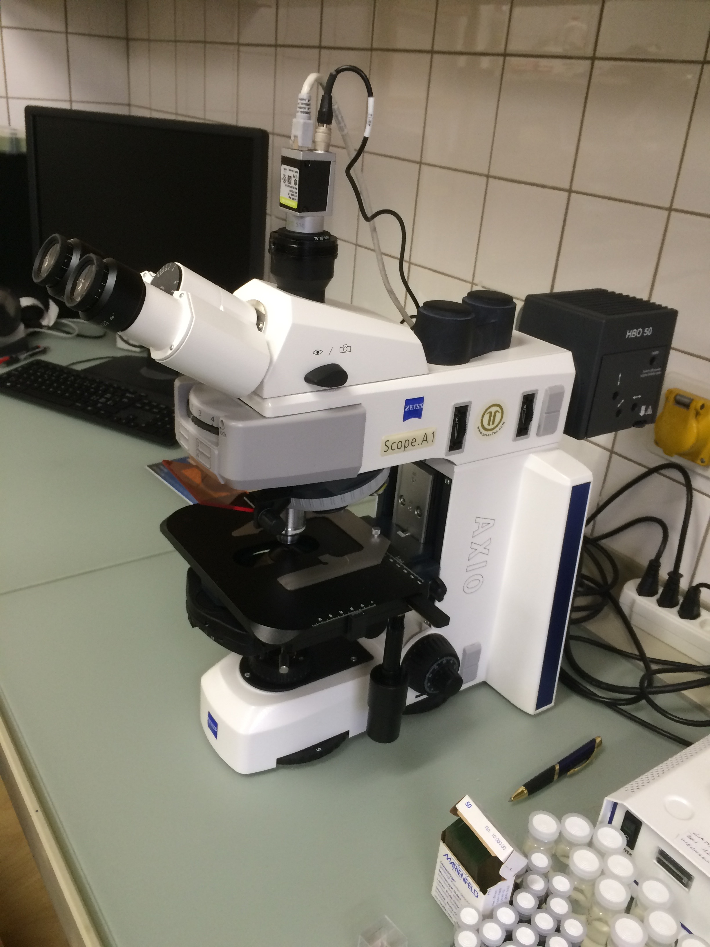 .. our fluorescence microscope