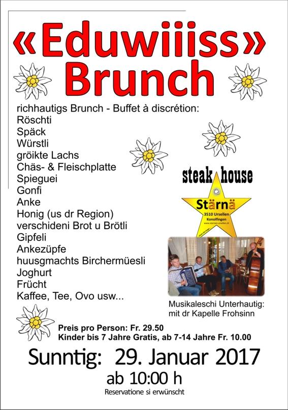 Bleu Restaurant Brunch Menu