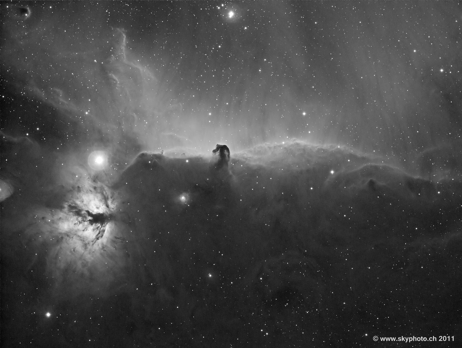 Horsehead nebula B 33 with IC 434