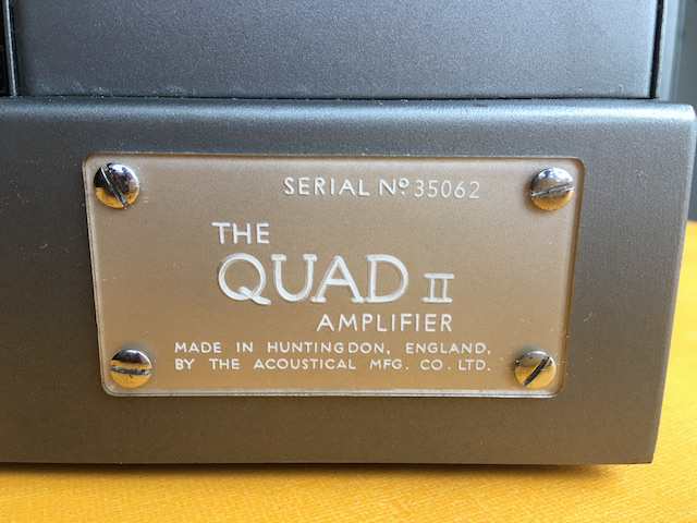 Amplifier Quad II Mono Block, Paar