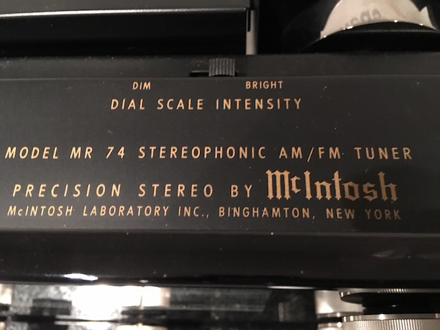Mc Intosh Tuner MR 74