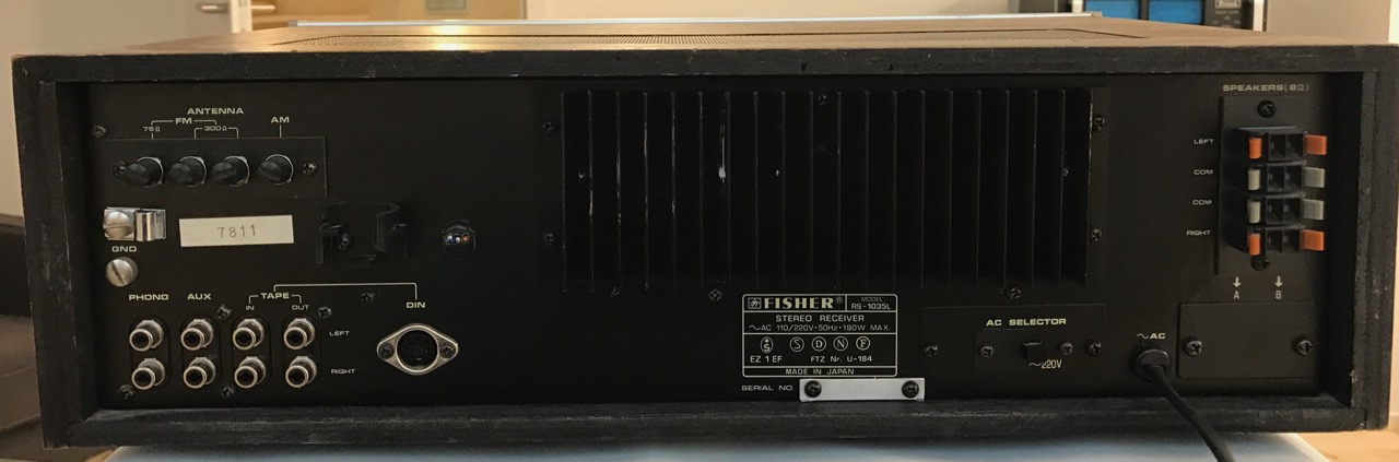 Receiver Fisher RS-1035L
