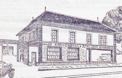 1928 Peugeot Garage in Basel