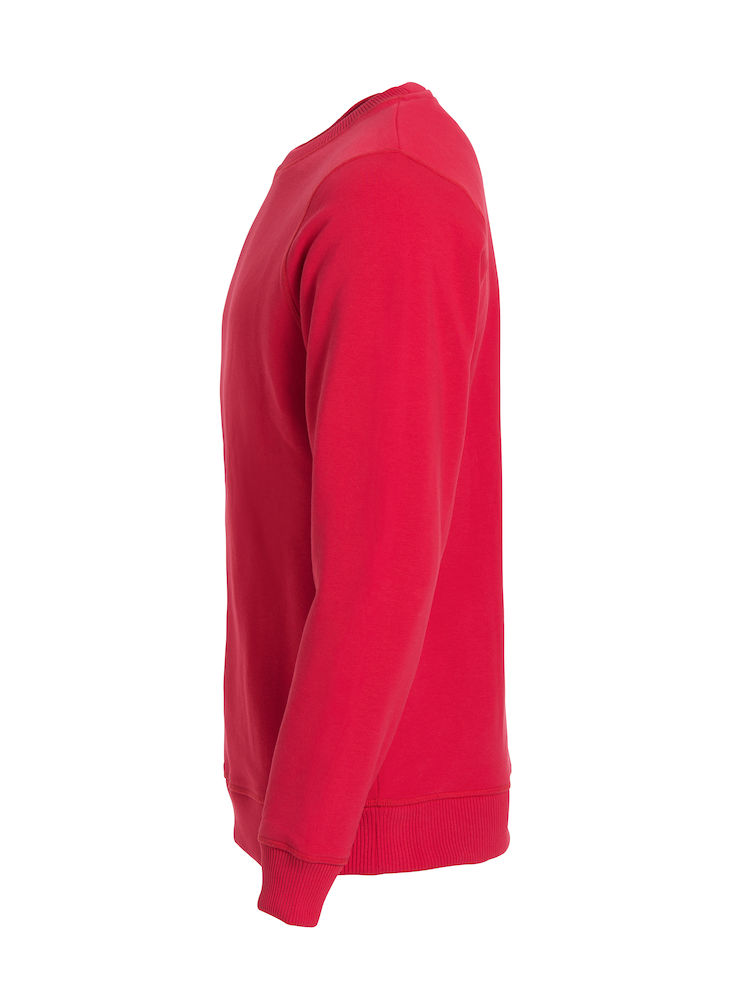 Unisex Sweatshirt CLIQUE Classic Roundneck 021040 Red 35 mit Stickerei