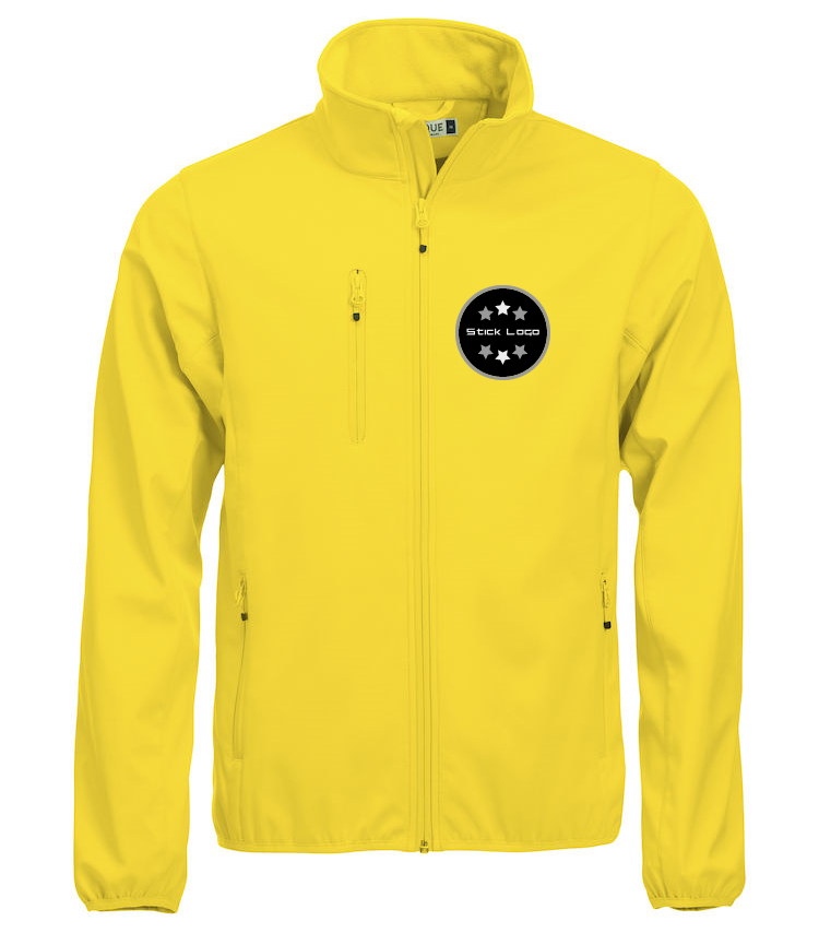 Herren Softshell Jacke CLIQUE Basic 020910 Lemon 10 mit Stickerei