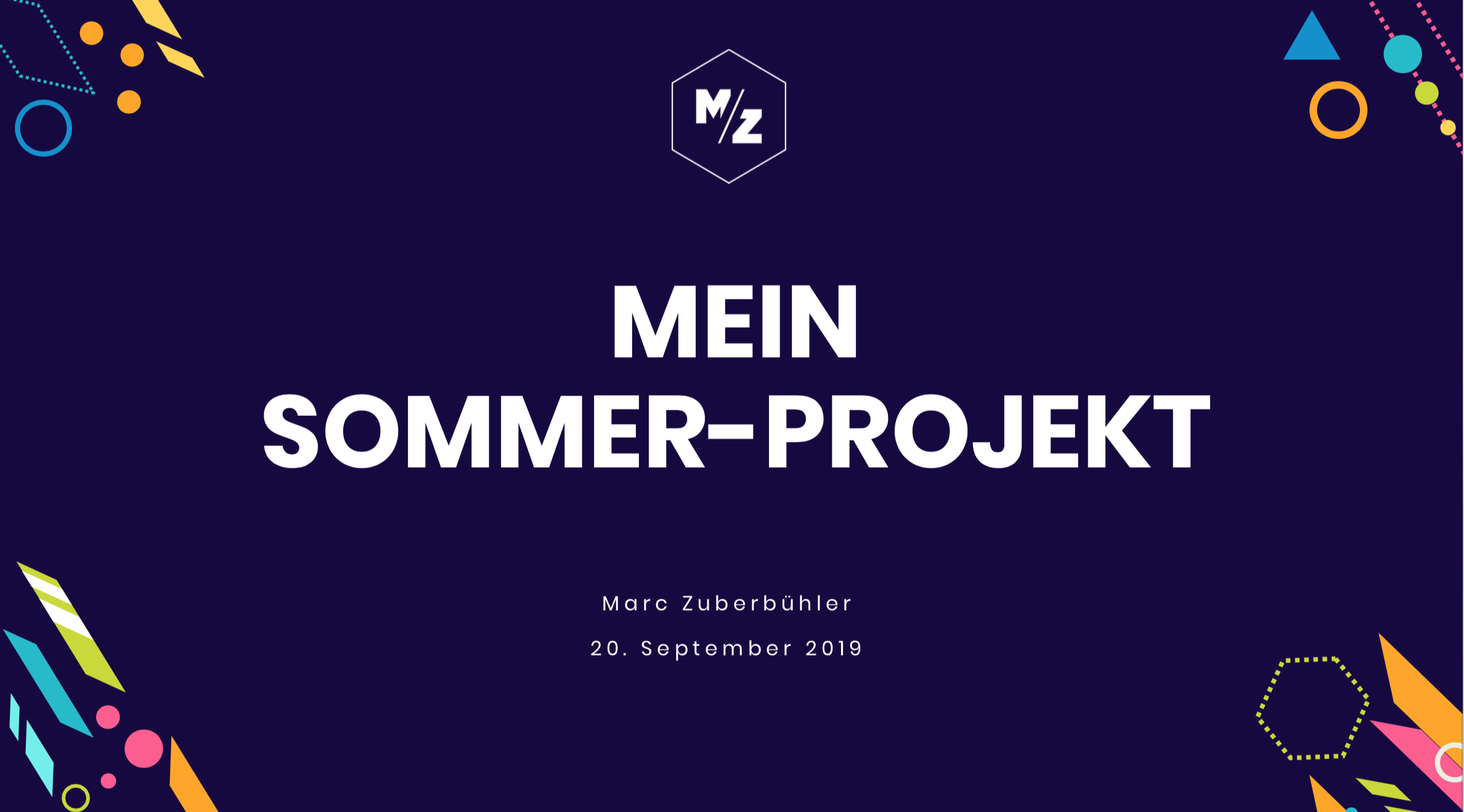 CAS Summer Project: Präsentation an der ZHdK