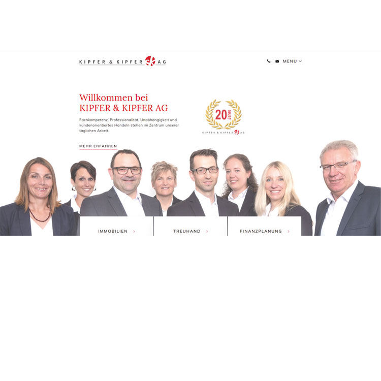 Evaluation, Planung & Realisation von Website, Immobilientool & Newsletter