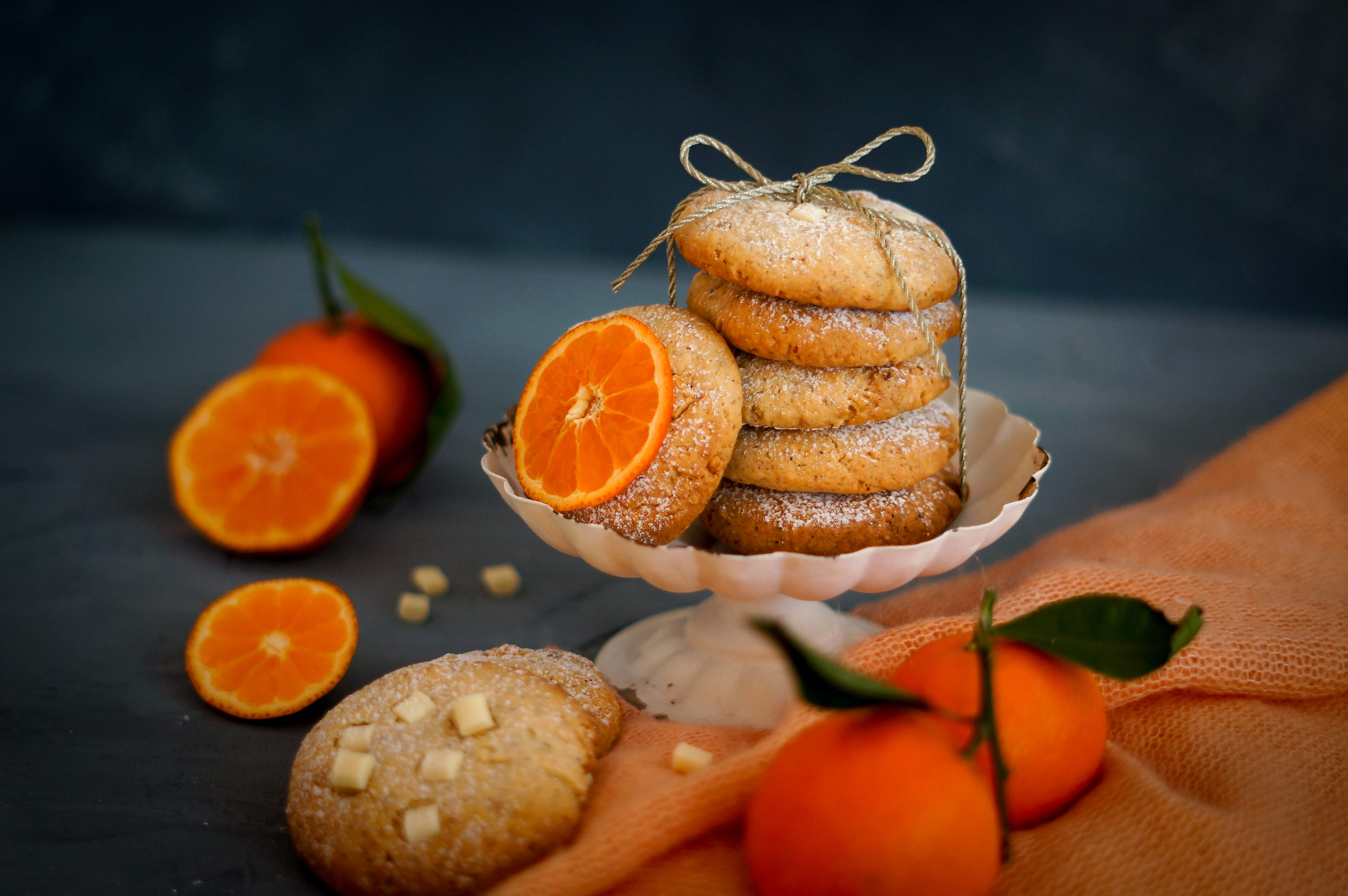 clementinen, cookies, backen, winter,
