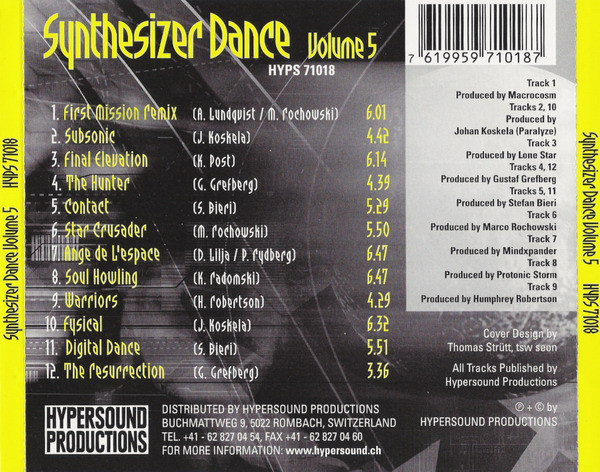 Various - Synthesizer Dance Volume 5