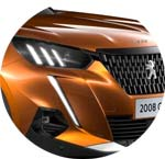 Peugeot 2008 SUV Orange Fusion Metallic