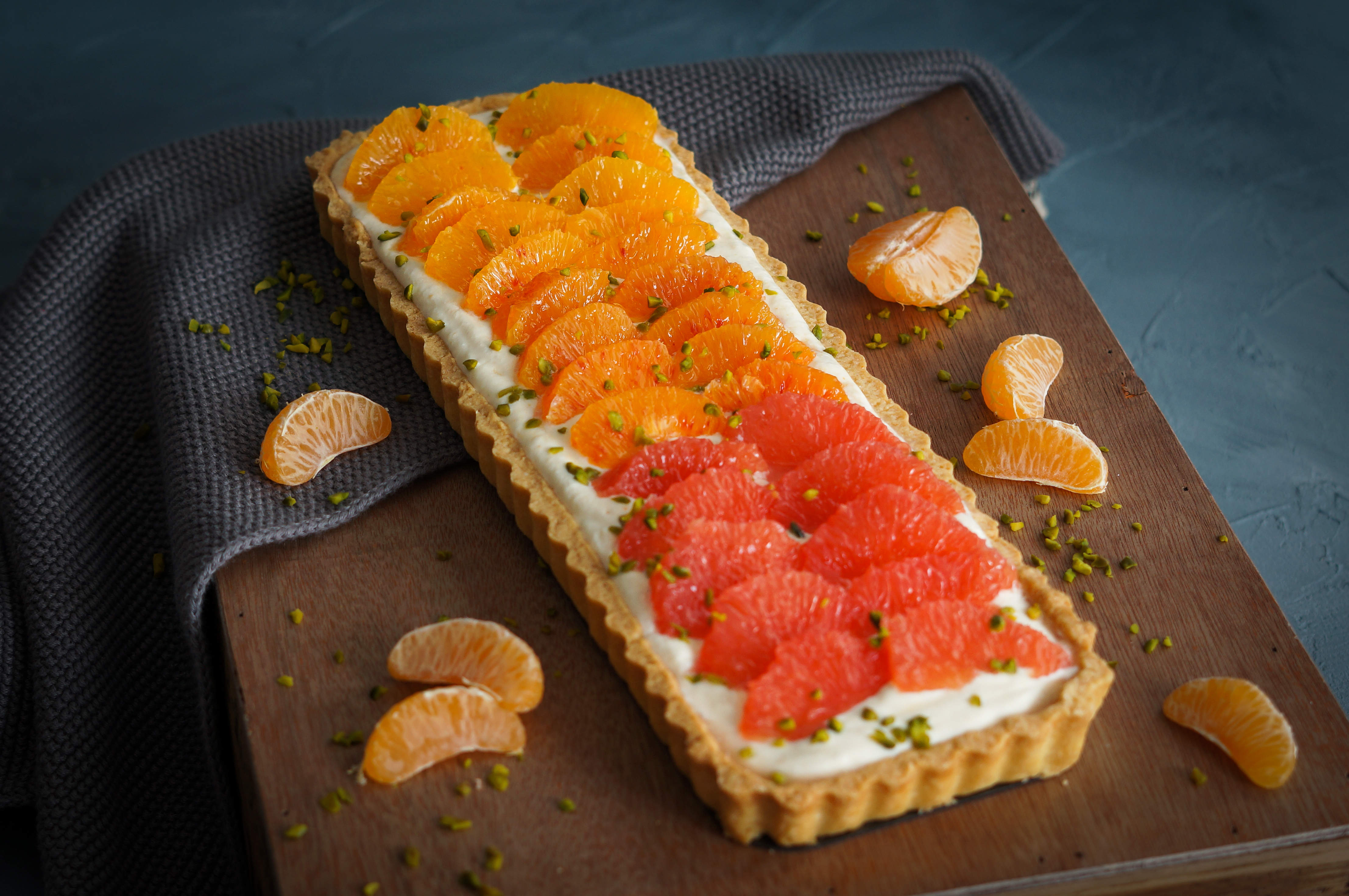 backen, zitrus, citrusm tarte, mürbeteig, ricotta, grapefruit, mandarinen, orangen, blutorange, winter