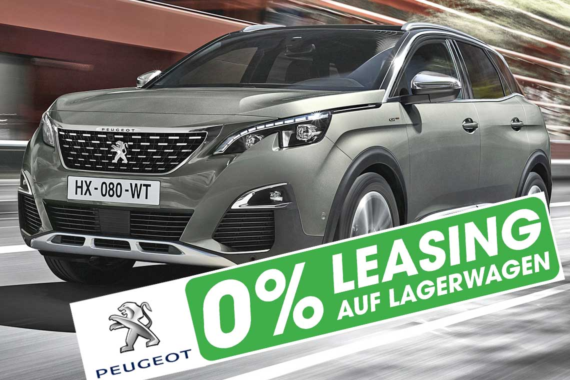 Peugeot 3008 SUV mit 0 Prozent Leasing in Basel