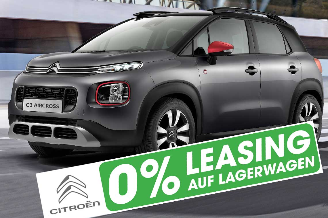Citroen C3 Aircross mit 0 Prozent Leasing in Basel