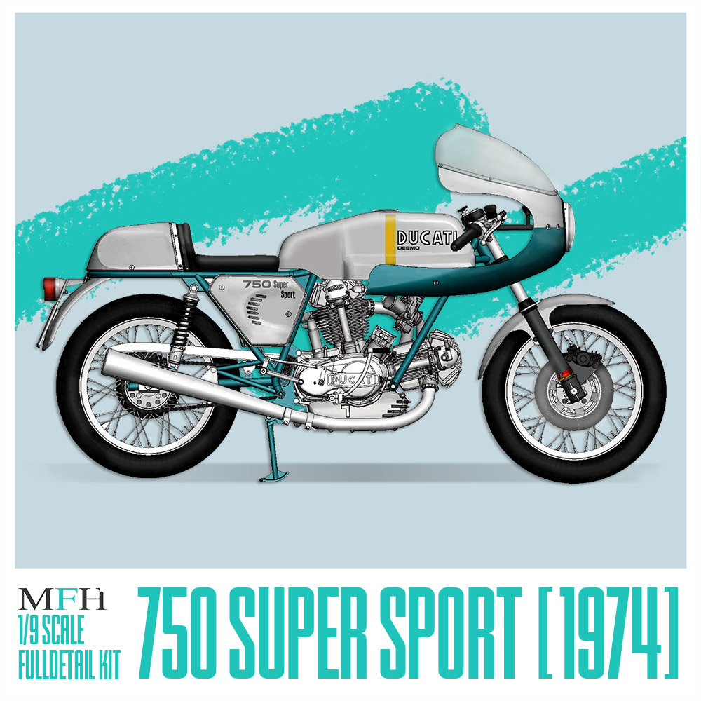 1/9 scale Fulldetail Kit : 750 Super Sport [1974]