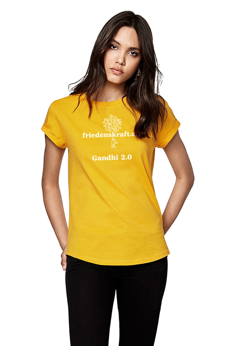 Damen T-Shirt gold