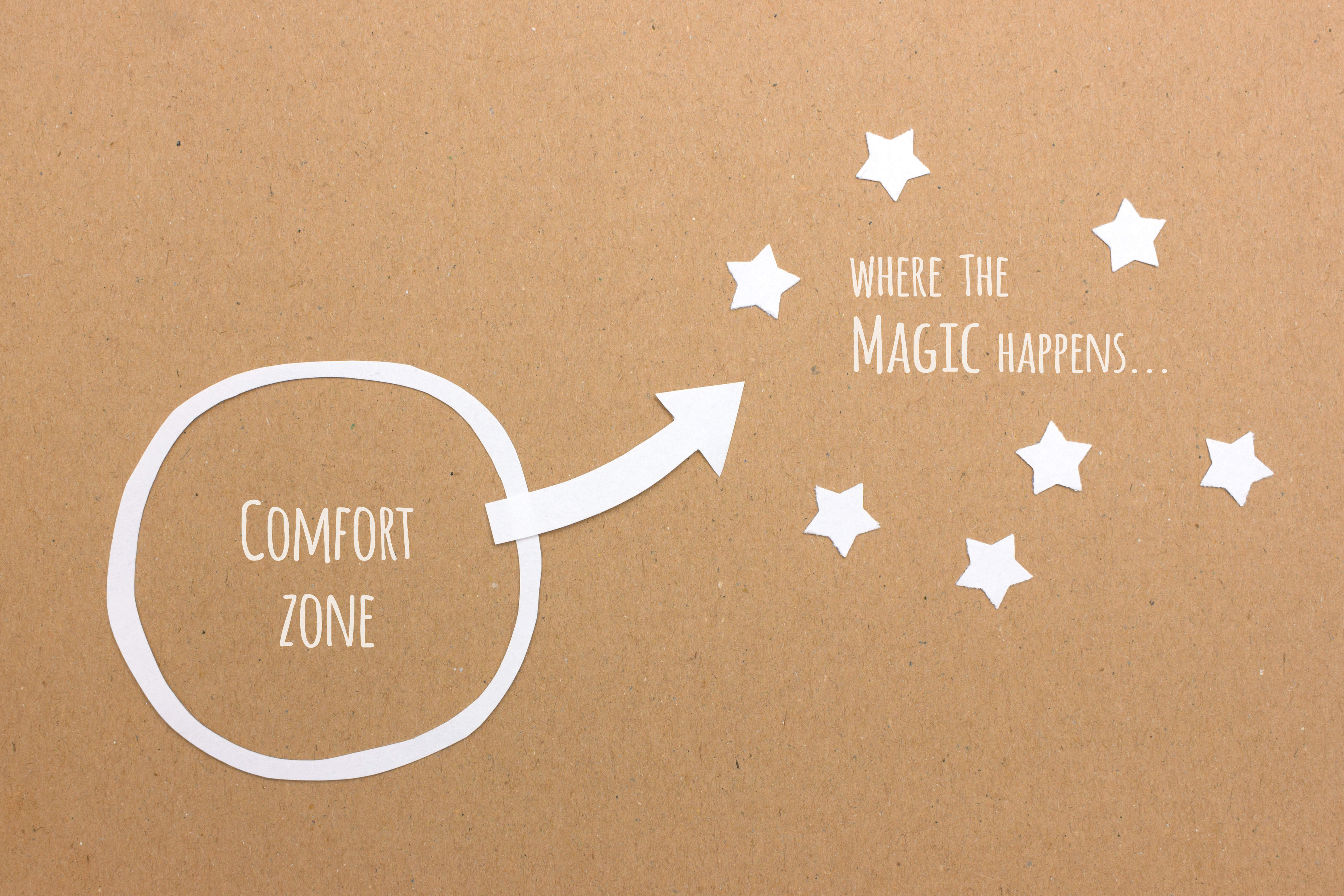 Raus aus der Komfortzone!  - Fuera de tu zona de comfort! - Out of your comfort zone!