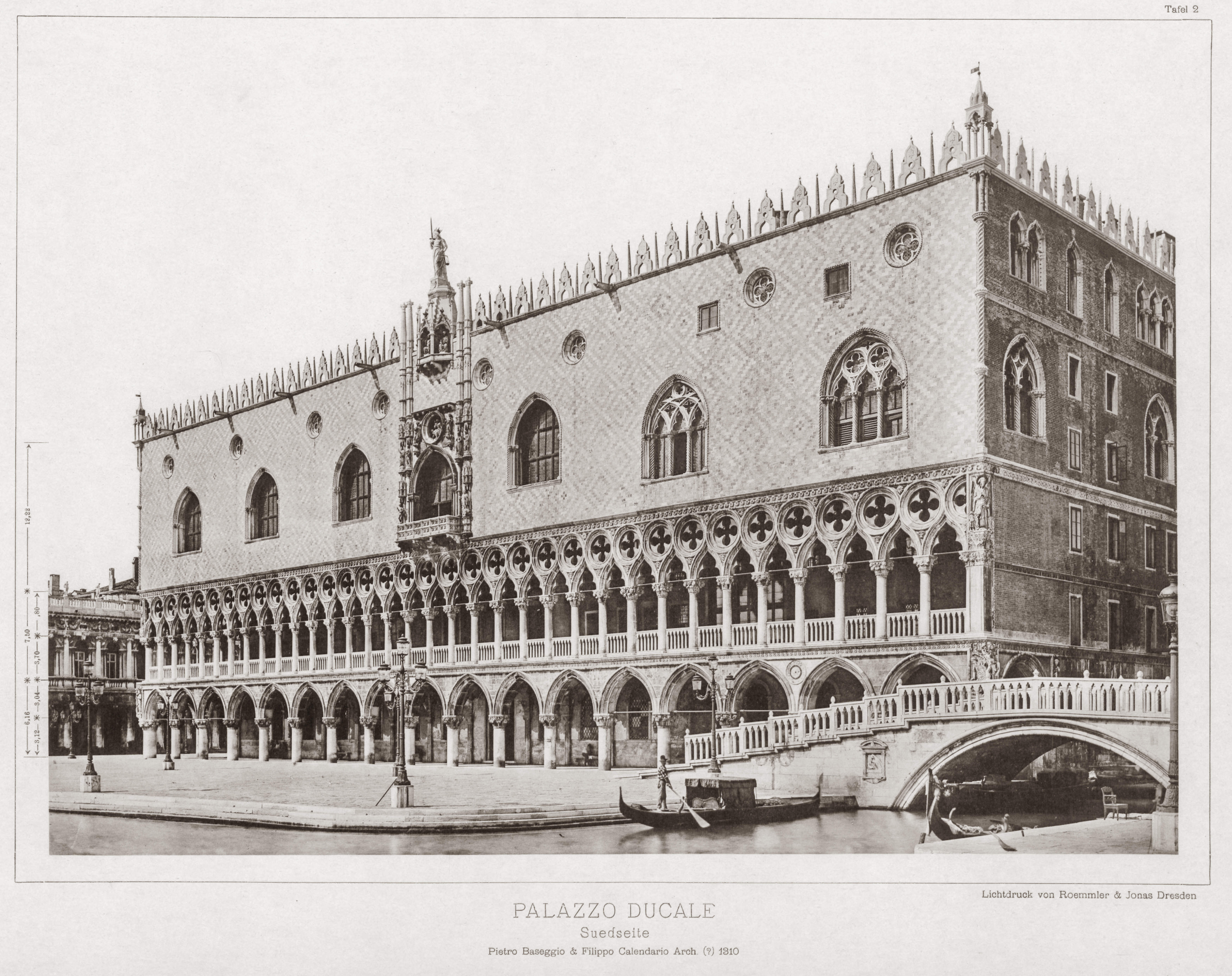 Pietro Baseggio, Architect of the Ducal Palace in Venice, Italy