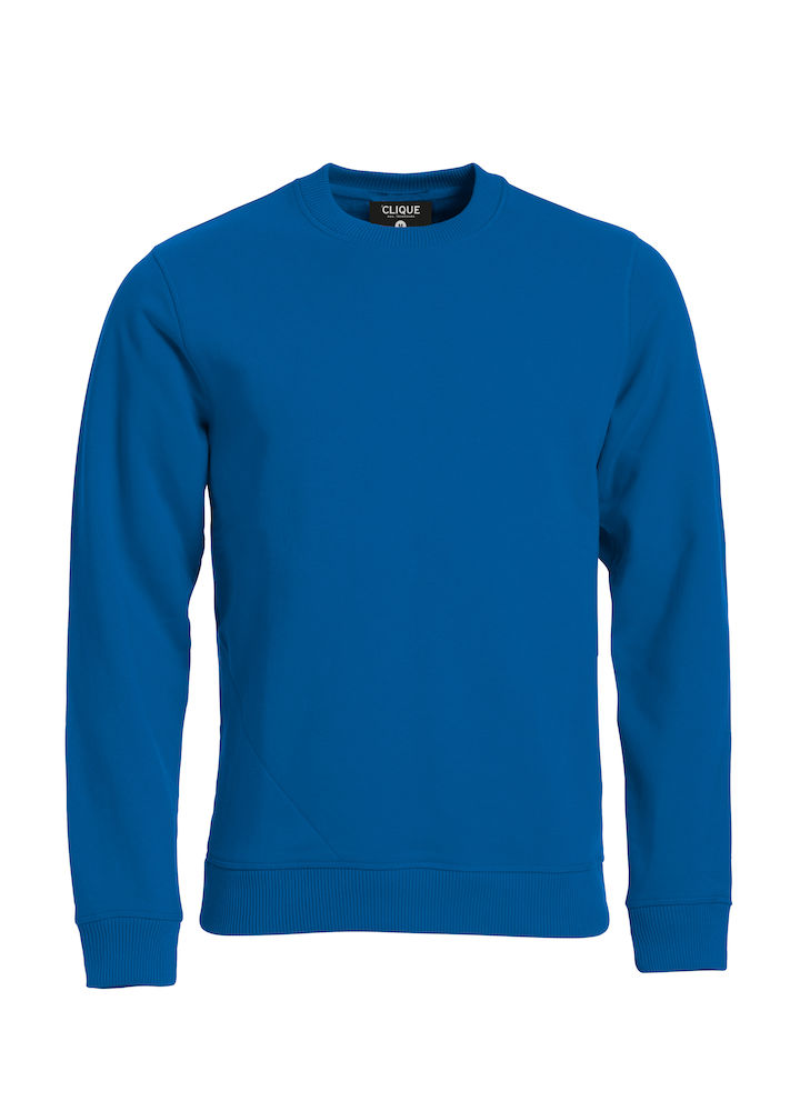 Unisex Sweatshirt CLIQUE Classic Roundneck 021040 Royal 55 mit Stickerei