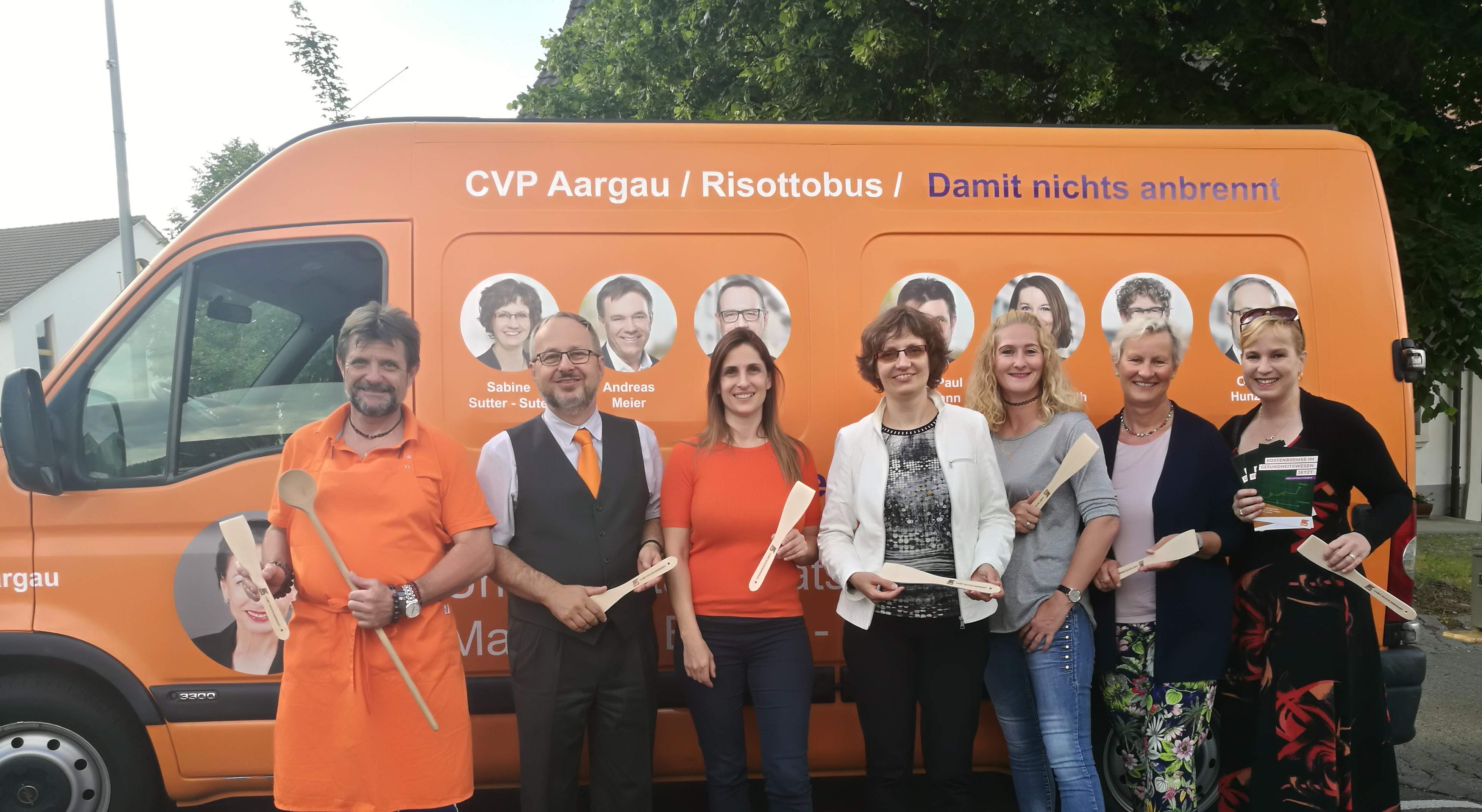 CVP Risotto Anlass am 12. Juni in Wallbach