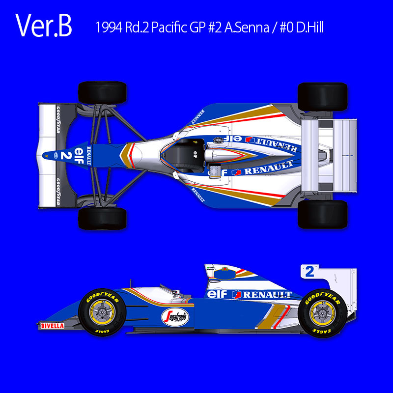 1/20 scale Fulldetail Kit : Williams FW16 Ver.B : 1994 Rd.2 Pacific GP