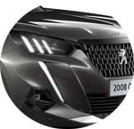 Peugeot 2008 SUV Grau Platinium Metallic