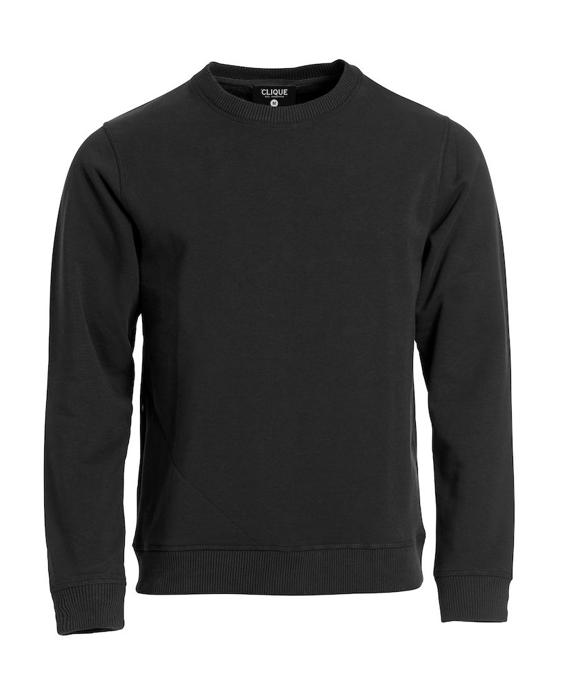 Unisex Sweatshirt CLIQUE Classic Roundneck 021040 Black 99 mit Stickerei