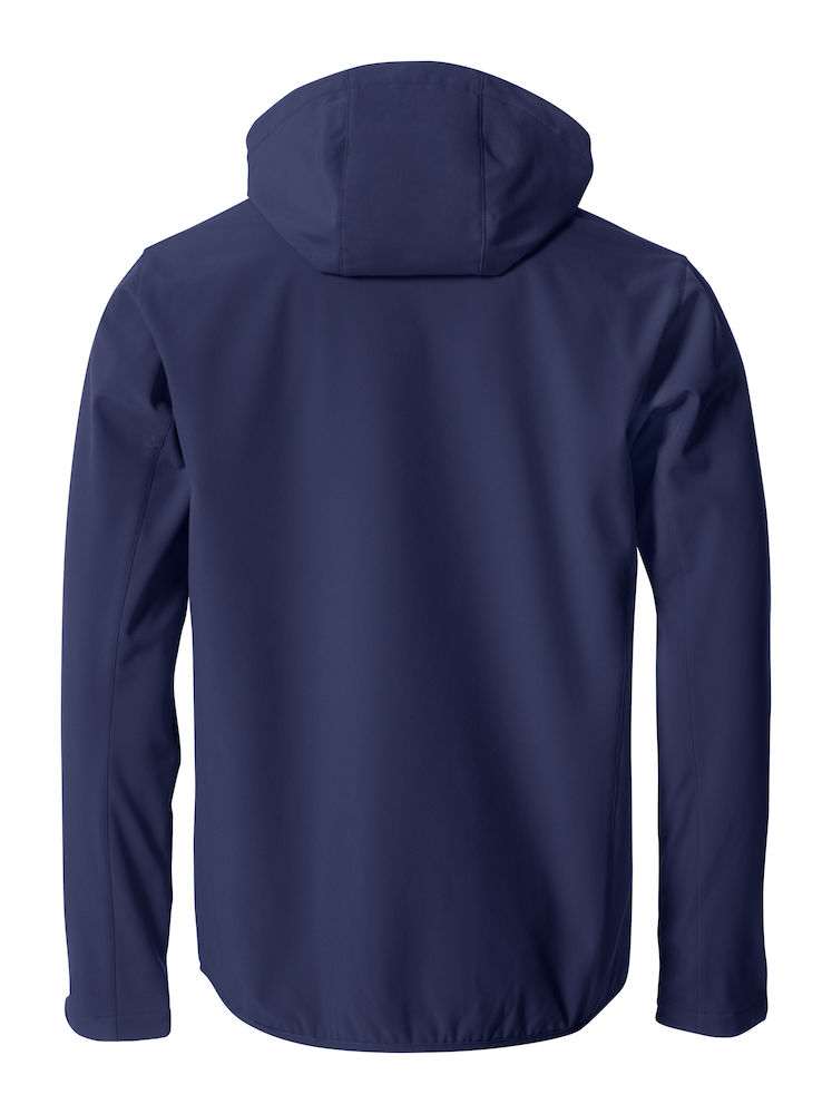 Herren Softshell Jacke CLIQUE Basic Softshell Hoody 020912 Navy 580 mit Stickerei