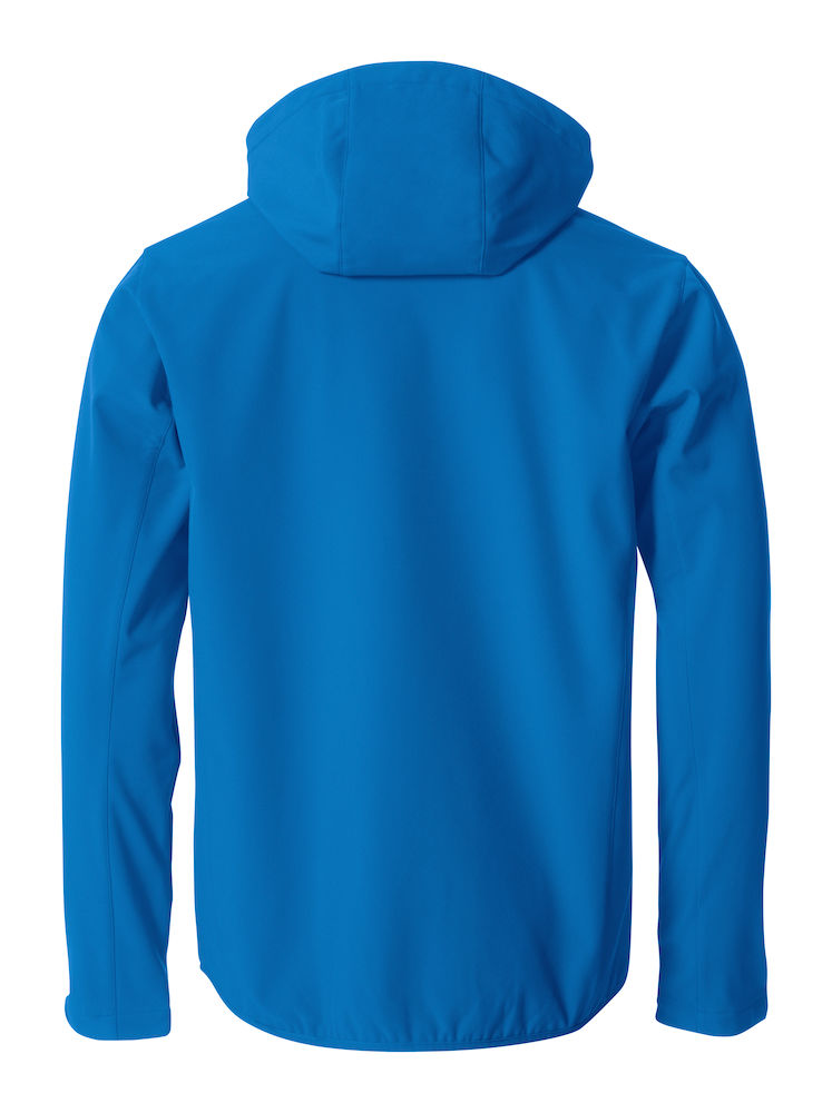 Herren Softshell Jacke CLIQUE Basic Softshell Hoody 020912 Royal 55 mit Stickerei