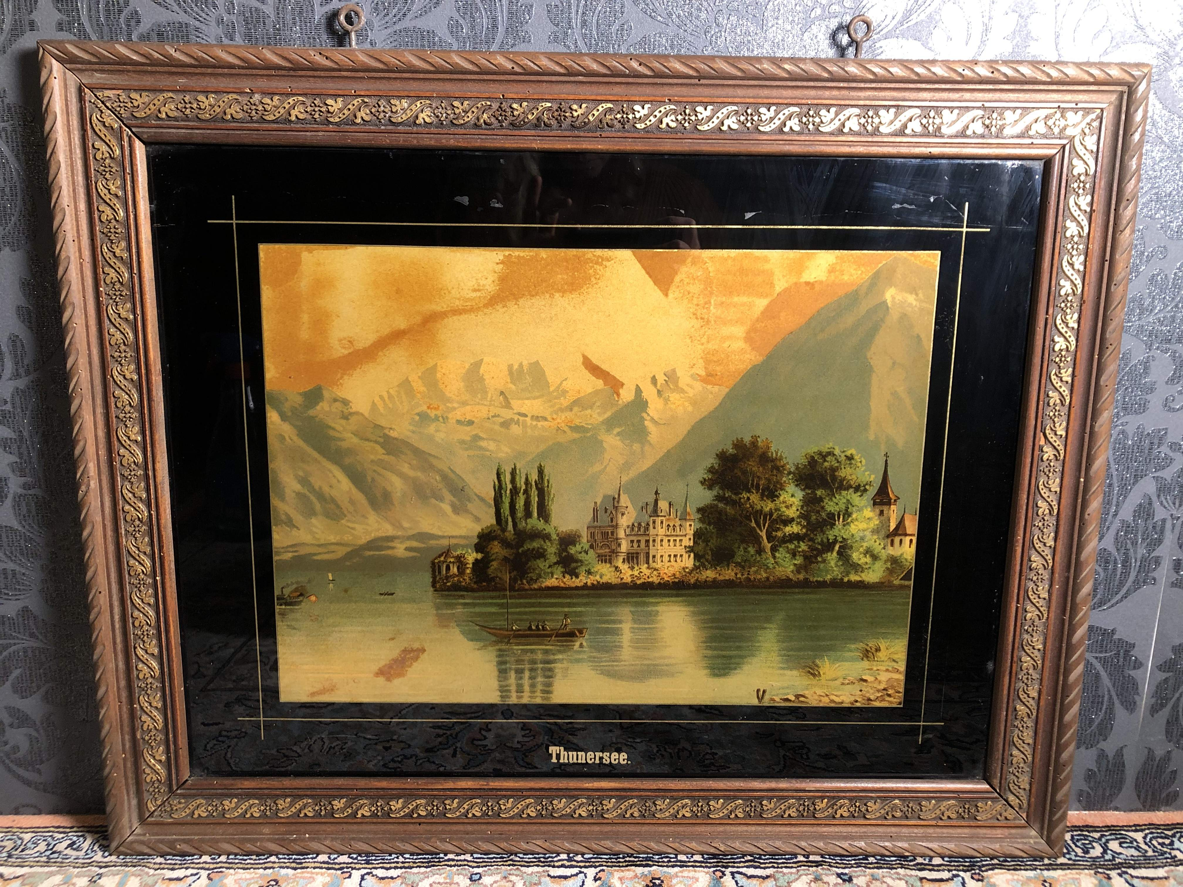 Chromolithografie Thunersee