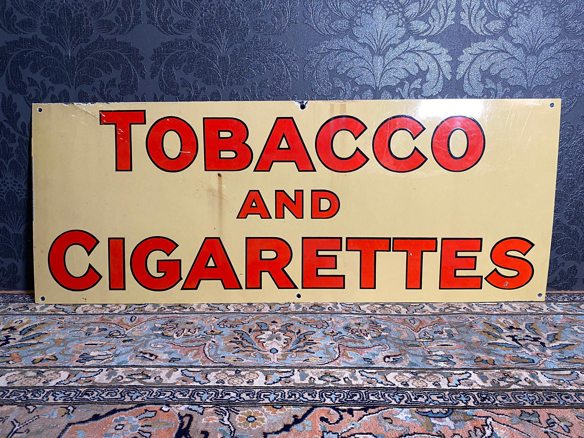Tabacco and Cigarettes Emailschild