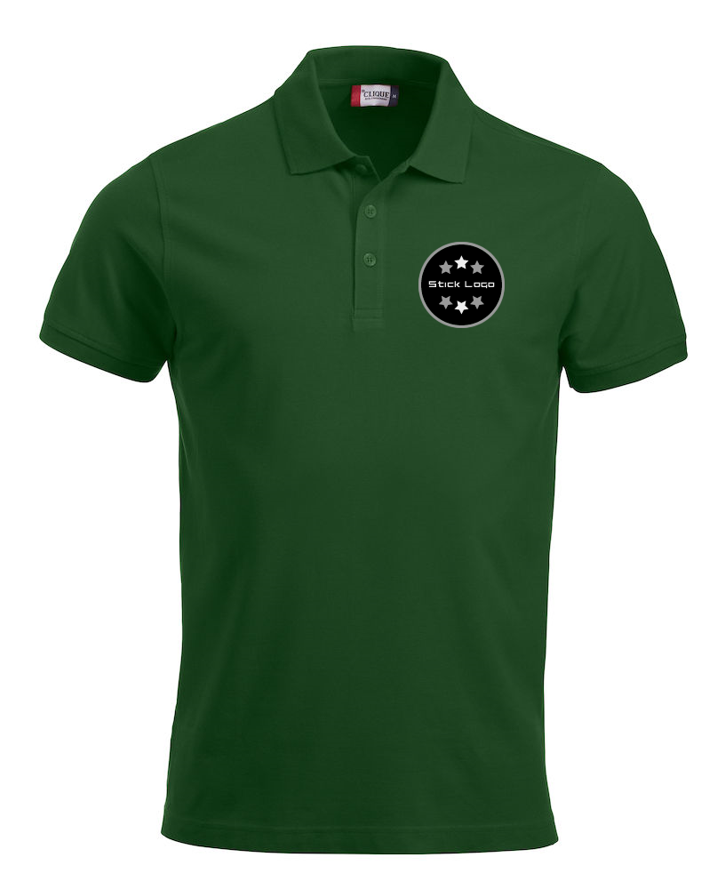 Herren Poloshirt CLIQUE Classic Lincoln 028244 Bottle Green 68 mit Stickerei