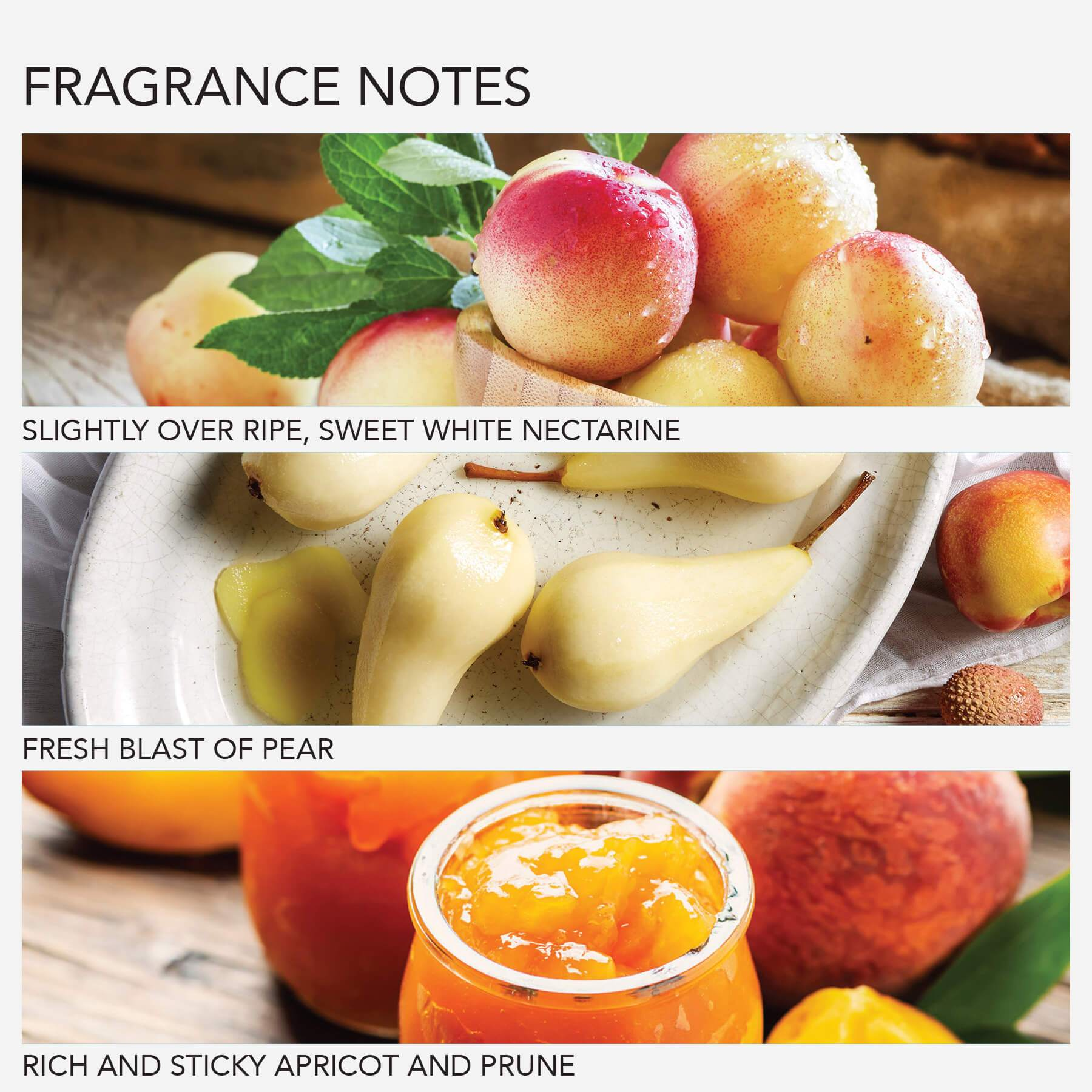 GRACE COLE: White Nectarine & Pear