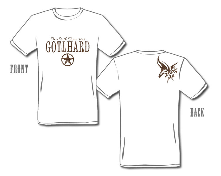 GOTTHARD T-Shirt Firebirth Logo Fitted Style