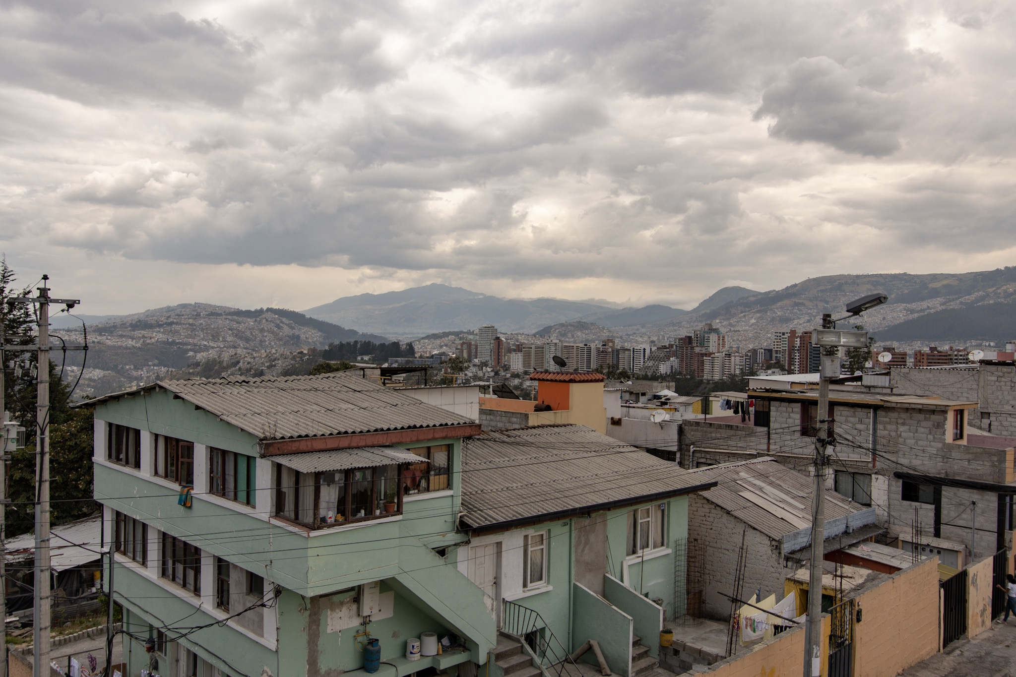 View of Quito from the Chapel of Mankind.