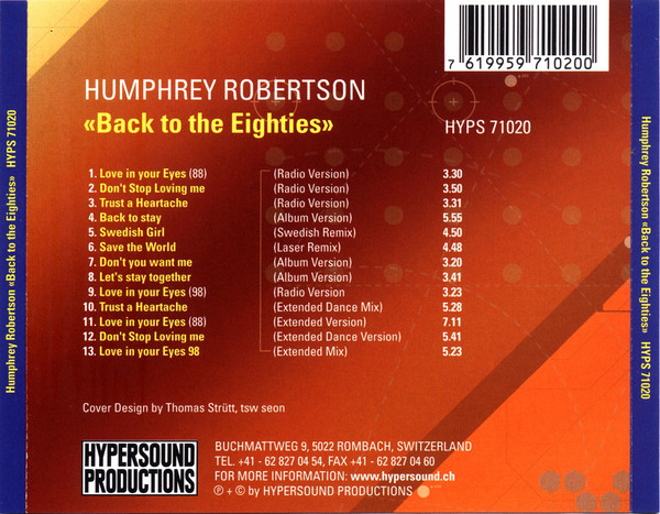 Humphrey Robertson ‎– Back To The 80's