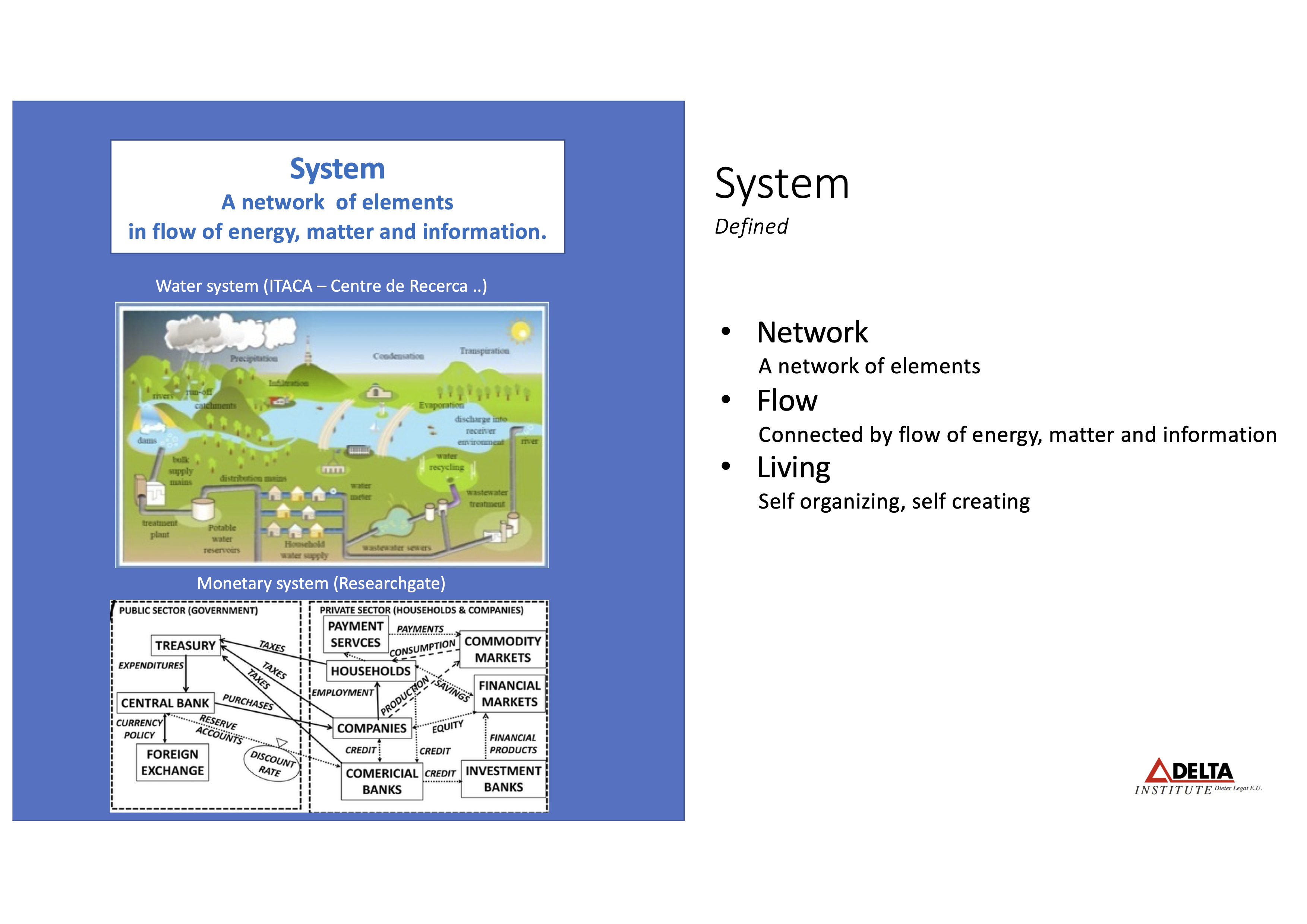 What are systems? Water system and monetary system