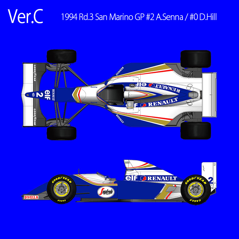 1/20scale Fulldetail Kit : Williams FW16 Ver. C