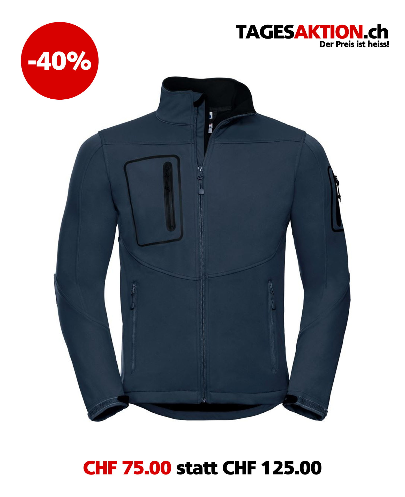Herren Softshell Jacke RUSSELL 520M French Navy