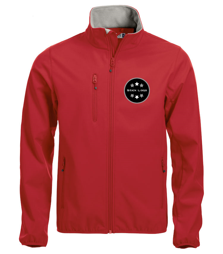Herren Softshell Jacke CLIQUE Basic 020910 Red 35 mit Stickerei