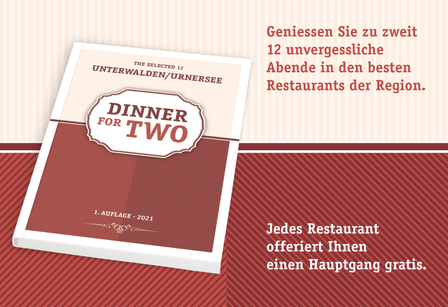 Gutscheinbüchlein «Dinner for two»
