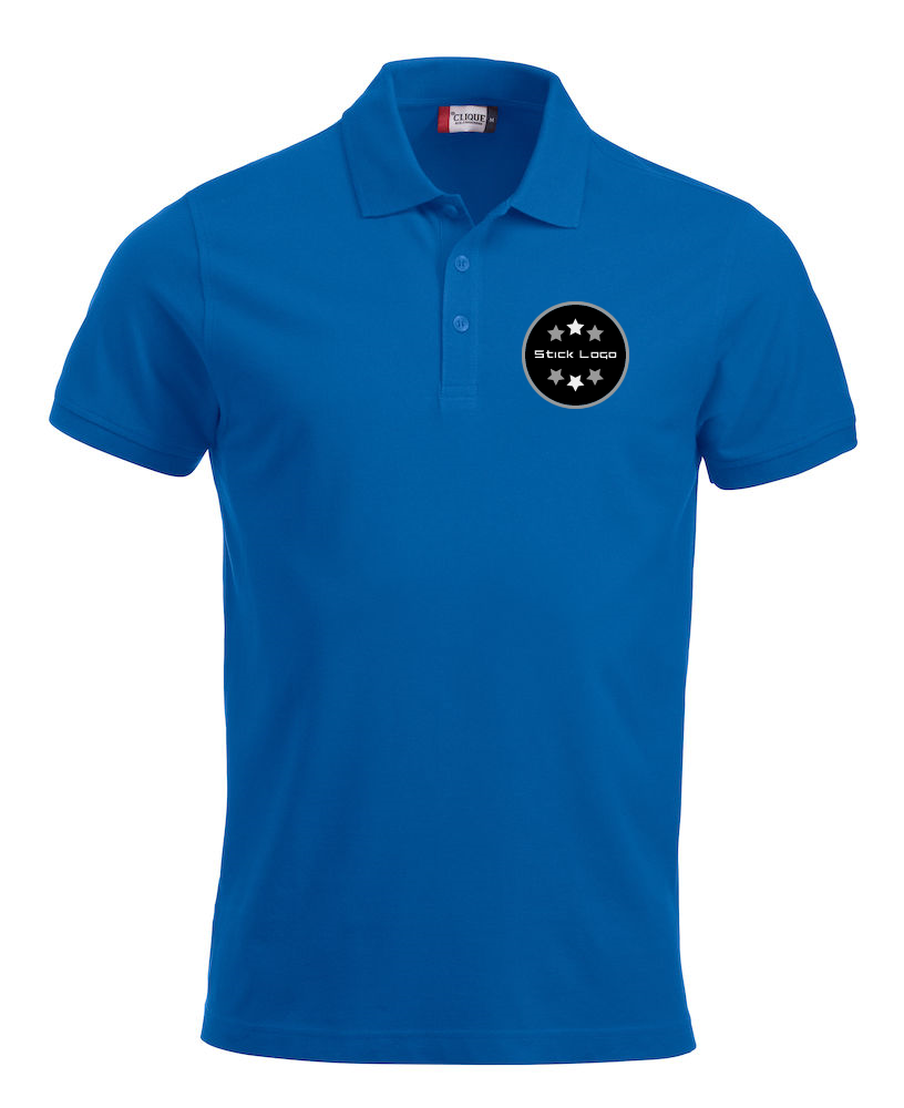 Herren Poloshirt CLIQUE Classic Lincoln 028244 Royal 55 mit Stickerei