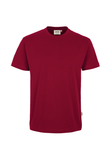 T-Shirt HAKRO Heavy-T 0293 Weinrot 17 mit Stickerei
